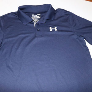 Under Armour Shirts & Tops - Under Armour Blue Heat Blue Polo YLG